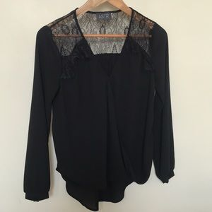 Astr lace long sleeve blouse